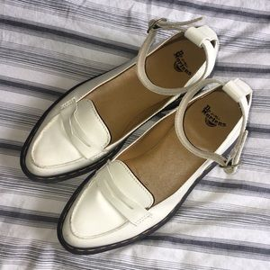 White Doc Marten Loafers